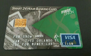 1998 VISA CASH CARD - RELOADABLE -*FUN SHOW FORUM- FIRST UNION BANK - USA - MINT