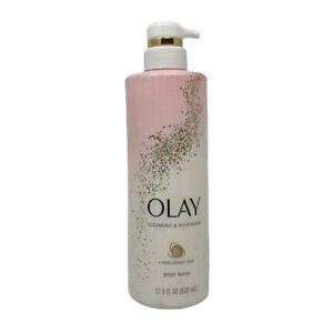 Olay Cleansing & Nourishing Body Wash Vitamin B3 & Hyaluronic Acid 17.9 oz