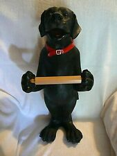 NEW BLACK LAB TOILET PAPER HOLDER Labrador Retriever Dog, Never Used