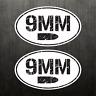 2X 9MM Ammo Can Vinyl Decal Bumper Sticker Car Gun Handgun Oval Sticker Bullet