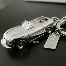 NEW COACH Nickel Silver Convertible Car Keychain Key Ring FOB Silver NEW