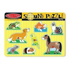 Melissa & Doug Pets Sound Puzzle 8pce