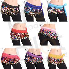 Dancing Coin Chain Sequins Belly Dance Hip Skirt Scarf Wrap Belt Waistband