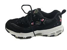 Skechers Women D'Lites Air Cooled Memory Foam Sneakers in Black  9.5 Pre Owned A