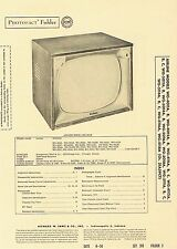 1956 Service Photofact w-Schematic AIRLINE WG-4011A 4112A 5118A 21A59CT TV