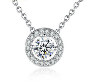 Latest Pendant Necklace Elegant With Round CZ Zircon Necklace Jewelry