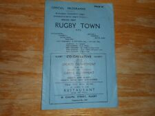 RUGBY TOWN  reserves  v  MEASHAM IMPERIAL 1950/1 LEICESTER SHIRE LEAGUE ~ APR 14