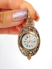Vintage Soviet USSR Women's Watch Filigree Pendant Gold AU Чайка Chaika 17J
