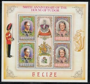 BELIZE House of Tudor (King George VI & Queen Mother) MNH souvenir sheet