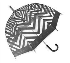 Metro Grey Clear Dome PVC Umbrella - Birdcage, Fashion, Adult