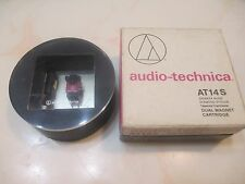 AUDIO TECHNICA AT14S CART WITH GENUINE ATS-14 SHIBATA CD4 QUAD STYLUS IN CASE