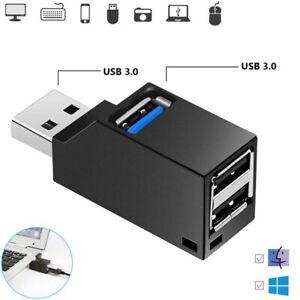 Mini USB 3.0 HUB 3 Port Verteiler Adapter für PC Laptop Macbook Notebook SPEED