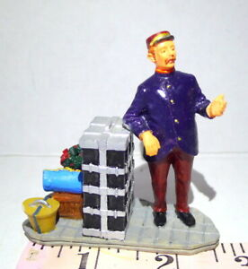 Lemax Christmas Village Collection Train Station Porter Trunks Luggage Figurine