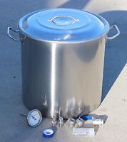CONCORD Home Brew Kettle DIY Kit w/ Accessories Stainless Steel Beer Stock Pot