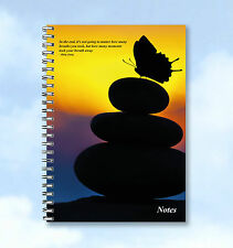 Personalised A4 Notebook with butterfly ,quote ADD ANY TEXT or print as is