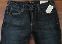 Guess Slim Straight Leg Jeans Mens Size 36 X 34 Low Rise Dark Distressed Wash