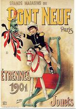 CPP123 CARTE POSTALE publicité MAGASINS DU PONT NEUF ETRENNES 1901 par H. Gray
