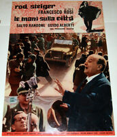 Francesco Rosi Rod Steiger LE MANI SULLA CITTA fotobusta originale 1963 #7