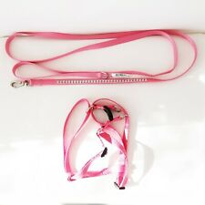 Dog Leash and Harness Pink with Rhinestones For Small Dog New Condition