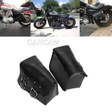 Motorcycle PU Side Bag Saddle Bag For Harley Davidson XL Sportster 1200 Custom