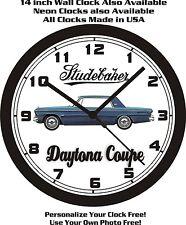 1964 STUDEBAKER DAYTONA 2 DOOR COUPE WALL CLOCK-FREE USA SHIP!