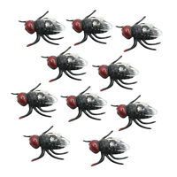 10xPlastic Flies Toy Fake Fly Bugs Fake Plastic Insect Fly Toys Trick Joke Toys