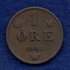 More details for sweden, 1894 1 ore, scarce date (ref. c7777)