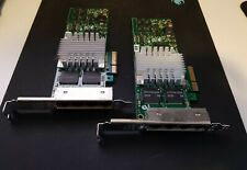 A pair of HP Quad Port Gigabit Ethernet Adapters