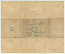 1845 STAMPLESS LETTER Wauwatosa Wisconsin & 2 pages letter