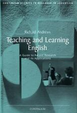 Teaching and Learning English (Research findings in education)