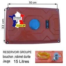RESERVOIR groupe électrogène Complet ROBINET JAUGE DURITE piece coliers