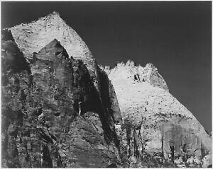 "Ansel Adams - Rock Formation Against Dark Sky Zion Park Utah (1941) - 17"" x 22"""