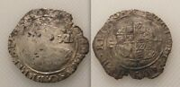 Collectable Hammered Silver King Charles I Shilling coin / Triangle In Circle