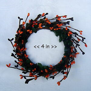 """4"""" PIP Berry Ring Candle Wreath - Color Variations - Spring, Fall, Christmas"""