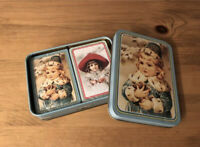 Vintage Collectible Winter Days Playing Cards by Maud Humphrey Bogart New In Tin