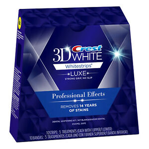 Crest 3D White LUXE Whitestrips Professional Effects 10 Strips 5 Treatments