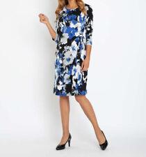 """9.5177 Jersey-Kleid mit Blumendruck """"blau"""" Gr. 42"""