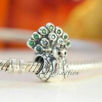 Authentic Pandora Charm Peacock Teal & Green CZ Sterling Silver 791227MCZ