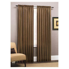 Style Selections Enna Stripe Espresso Multiple Tone Striped Curtain Panel 84x54