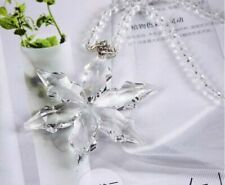 Crystal Clear Christmas Little Star Snowflake Ornament Xmas Gift with Box B5