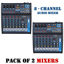 Pack of (2) Pyle PMXU83BT BT 8Ch Studio/DJ Controller Audio Mixer Console System