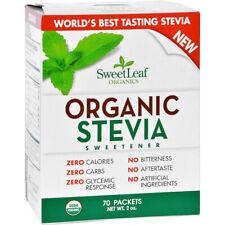 SWEET LEAF - Organic Stevia Sweetener Powder - 70 Packets