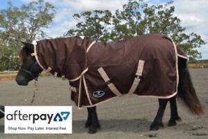 Unicorn Miniature Waterproof Turnout Combo Horse Rug No Fill Rainsheet