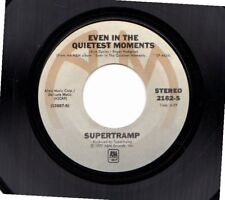 SUPERTRAMP EVEN IN THE QUIETEST MOMENTS/GOODBYE STRANGER USED 45RPM VINYL