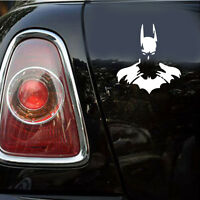 1pc Car Window Vinyl Decal White Dark Knight Batman Reflectiv Laptop Sticker