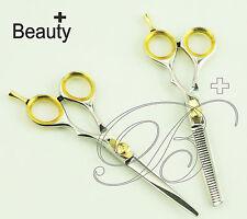 Professional Salon Hair Cutting & Thinning Scissors Barber Shears Hairdressing