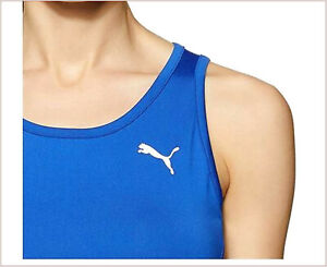 PUMA Underwear Sport Woman Tops Crop T-Shirt Straps SPORTS Crossfit Blue M