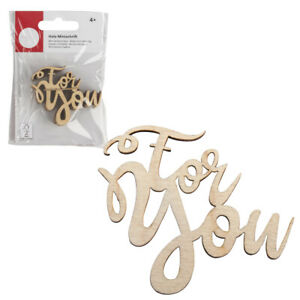4 Wooden For You Card Making Toppers| Papercraft Embellishment