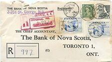 1955 Saint John, N.B. early barrel cancel RF80, St. Geo  Registered Canada cover