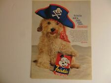 1960 FRISKIES CANNED DOG FOOD CUTE PIRATE DOG  print ad